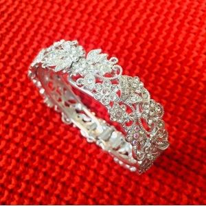Sparkly Floral Bangle